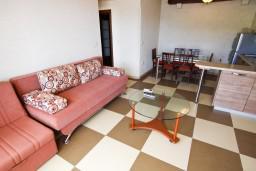 Гостиная. Рафаиловичи, Черногория, Рафаиловичи : Уютный апартамент для 4-8 человек, с 2-мя отдельными спальнями, с террасой с шикарным видом на море